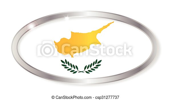 Cyprus Flag Oval Button - csp31277737