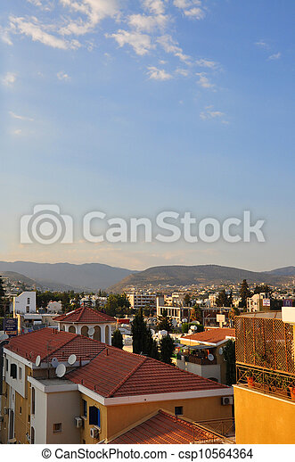 Cyprus, Limassol. Roof top view. - csp10564364
