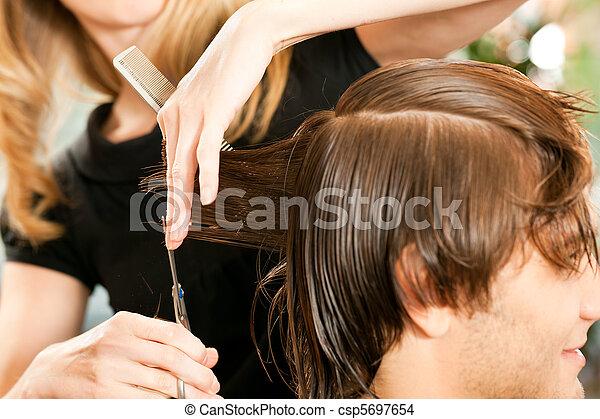 człowiek, fryzjer - csp5697654