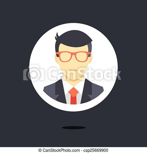 człowiek, ikona, wektor, handlowy dostosowują - csp25669900