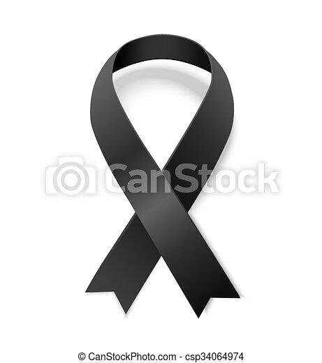 czarnoskóry, świadomość, wstążka - csp34064974