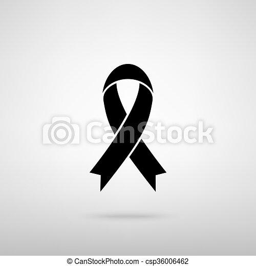 czarnoskóry, świadomość, wstążka, znak - csp36006462