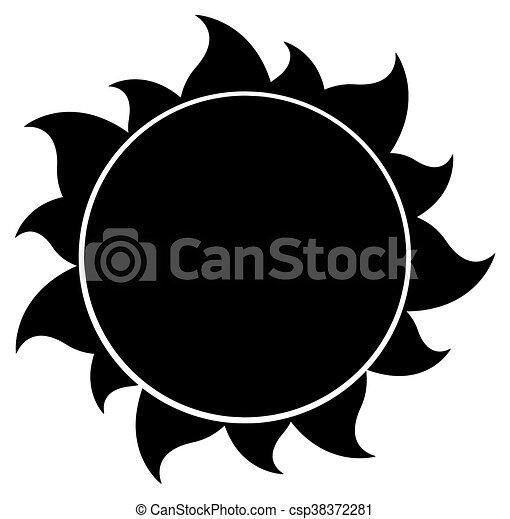 czarnoskóry, sylwetka, słońce - csp38372281