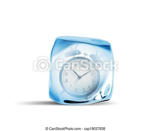 czas, marznąć, pojęcie - csp19037938