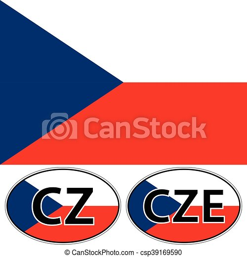 Czech republic a valid flag a sticker with the inscription cz cze csp39169590