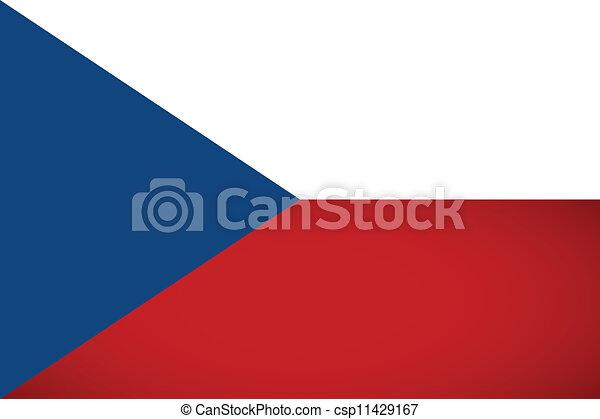 Czech Republic Flag. Vector illustration. - csp11429167