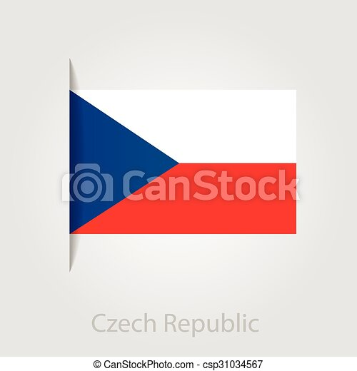 Czech Republic flag, vector illustration - csp31034567