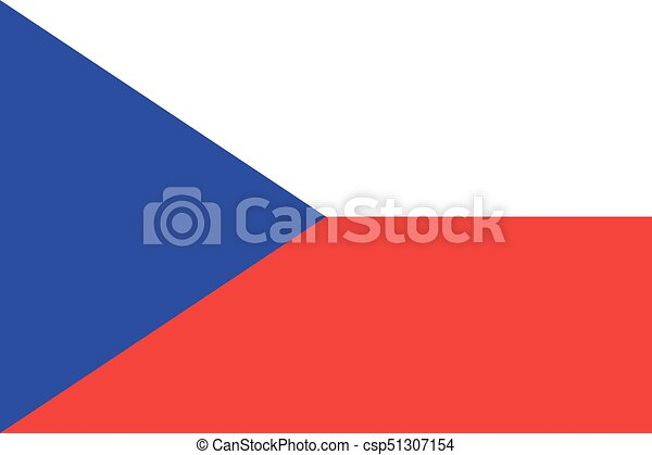 Czech-republic Flag vector illustration. Czech-republic Flag. National Flag of Czech-republic. - csp51307154