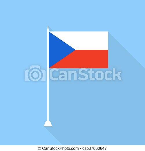 Czech Republic flag. Vector illustration . - csp37860647