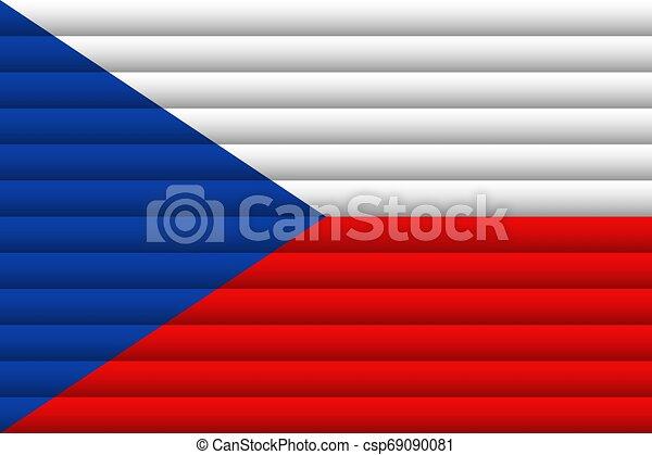 Czech Republic Flag. Vector Illustration. - csp69090081