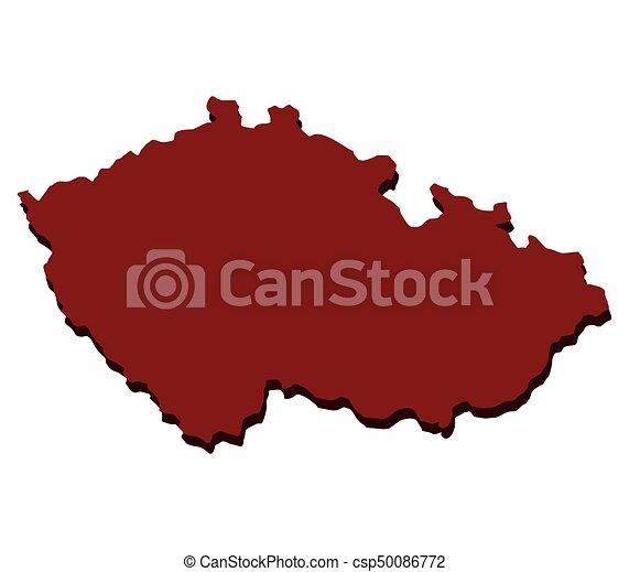 Czech republic map - csp50086772