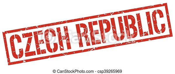 Czech Republic red square stamp - csp39265969