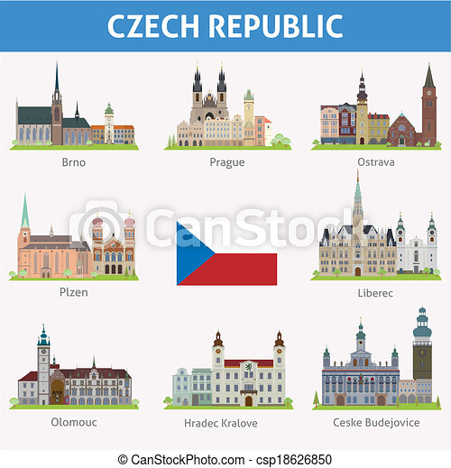 Czech republic. Symbols of cities - csp18626850