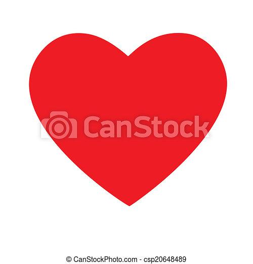 czerwone serce - csp20648489