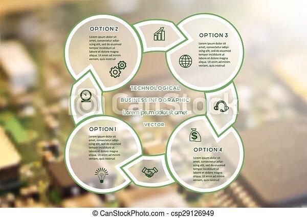 cztery, pozycje, infographic, handlowy, techniczny - csp29126949