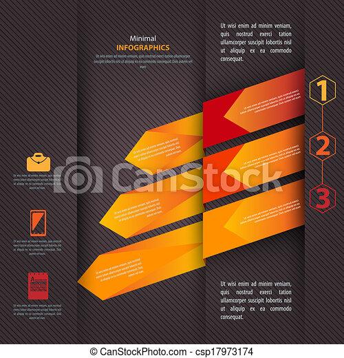 czuć się, używany, nowoczesny, wektor, projektować, może, infographics, szablon - csp17973174