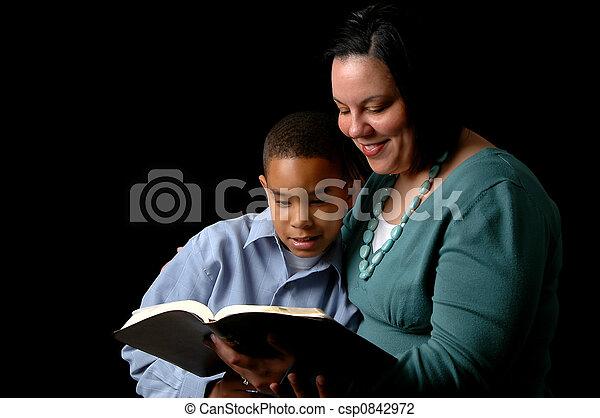 czytanie, macierz, syn - csp0842972