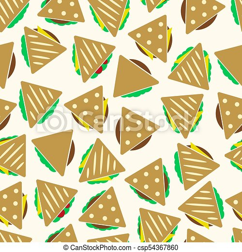 dát, eps10, barva, model, seamless, tacos, strava, sendvič, tortilla, nebo - csp54367860