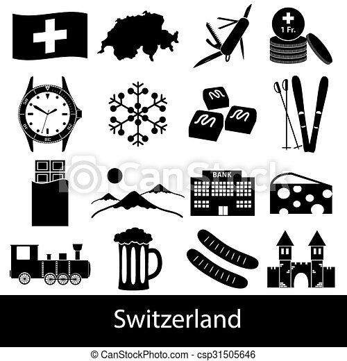 dát, eps10, ikona, země, symbol, námět, švýcarsko - csp31505646