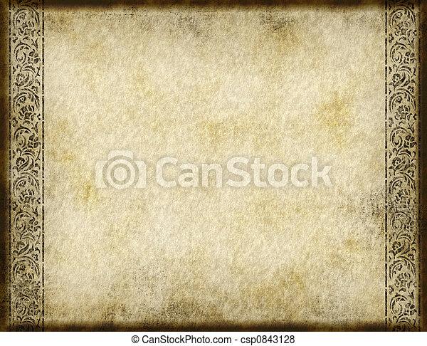 dávný, pergamen - csp0843128