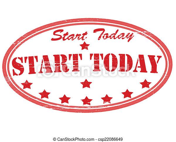 début, aujourd'hui - csp22086649