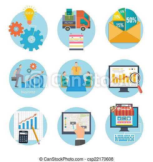 début, infographic, business, gabarit - csp22170608