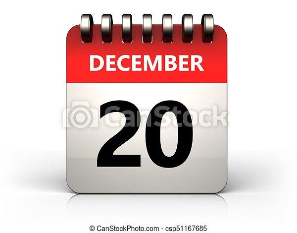 Calendrier 20.Decembre Calendrier 20 3d