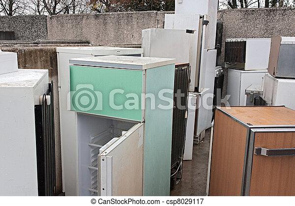 décharge, -, gaspillage, frigos, hasardeux - csp8029117