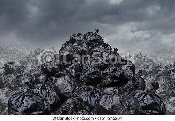 décharge ordures - csp17245204
