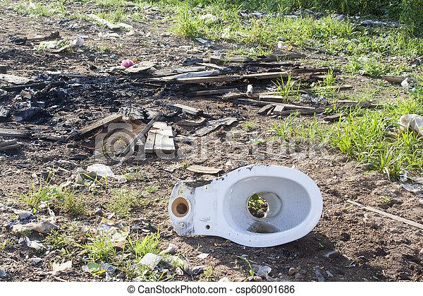 décharge ordures - csp60901686