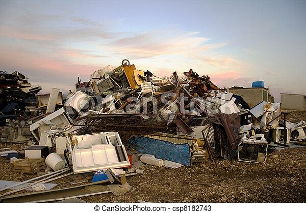 décharge ordures - csp8182743