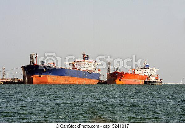 décharge, pétrolier, quai - csp15241017