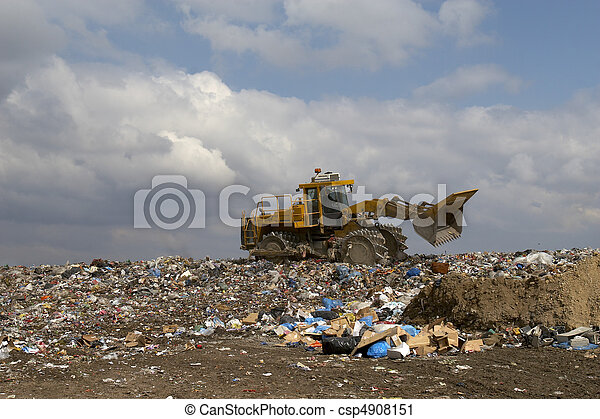 déchets ménagers - csp4908151