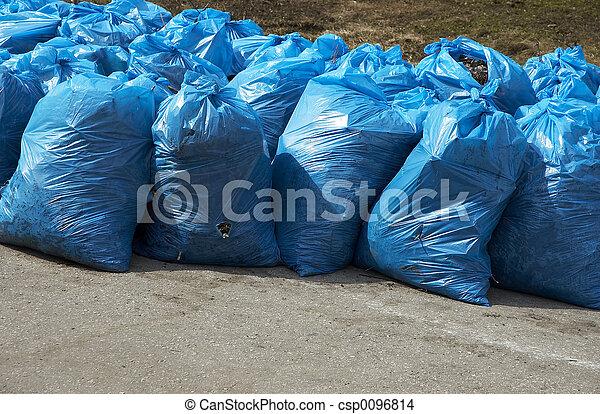 déchets, paquets - csp0096814