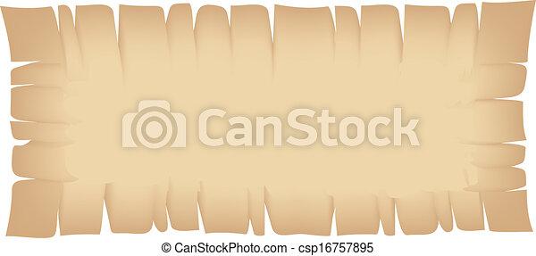 déchiré, bannière, beige, rectangle - csp16757895