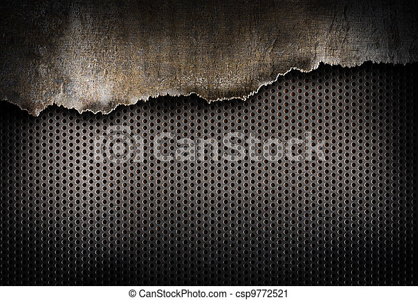 déchiré, métal, fond - csp9772521
