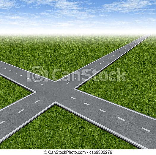 décision, carrefour, dilemme - csp9302276