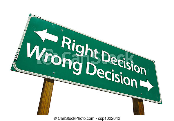 décision, right/wrong, signe - csp1022042