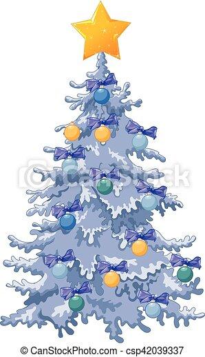 décoré, arbre, noël - csp42039337