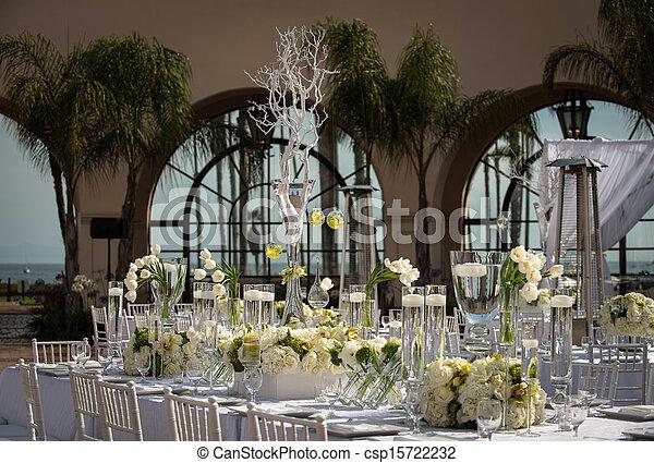 décoré, beautifully, lieu, mariage - csp15722232