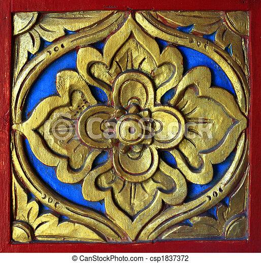 décoré, bois - csp1837372