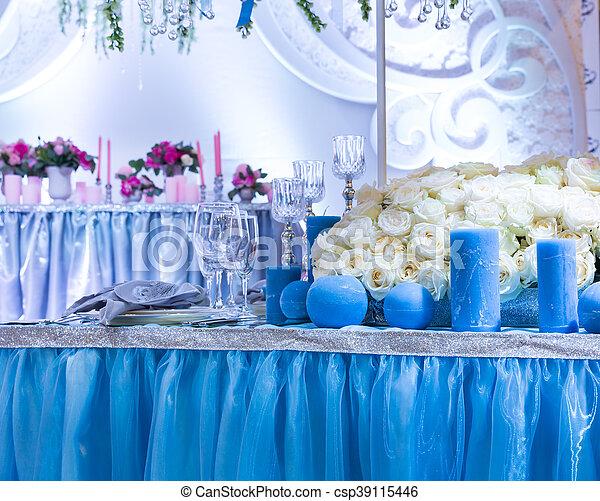 décoré, salle, mariage - csp39115446