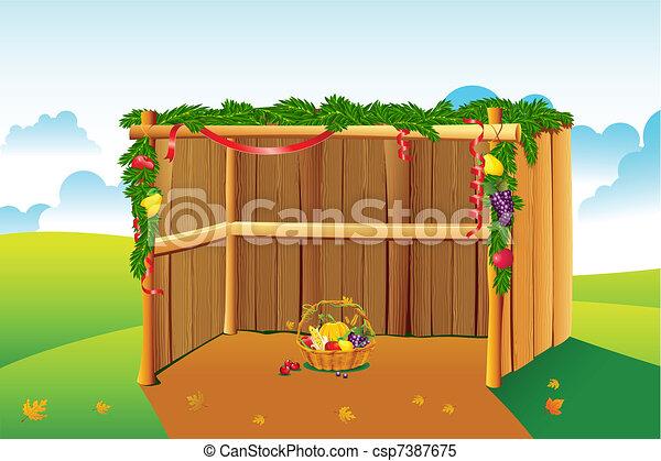 décoré, sukkah - csp7387675