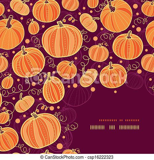 décor, modèle, thanksgiving, potirons, fond, coin - csp16222323