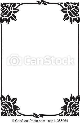 décoratif, cadre - csp11358064