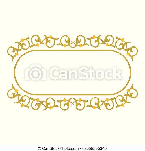 décoratif, cadre, frontière, ruban - csp59505340
