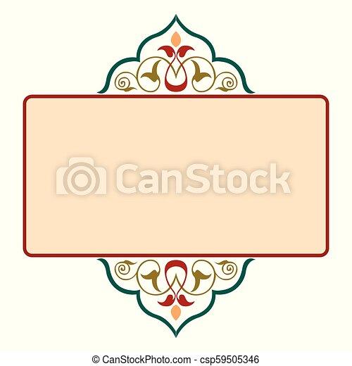 décoratif, cadre, frontière, ruban - csp59505346