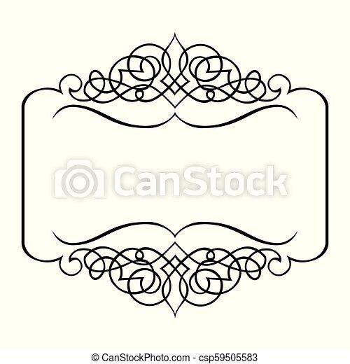 décoratif, cadre, frontière, ruban - csp59505583