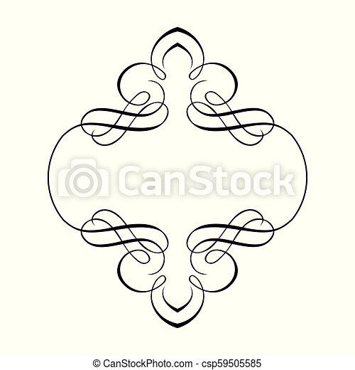 décoratif, cadre, frontière, ruban - csp59505585