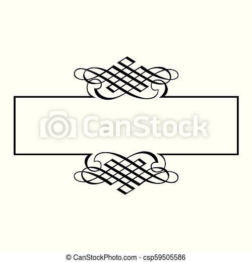 décoratif, cadre, frontière, ruban - csp59505586